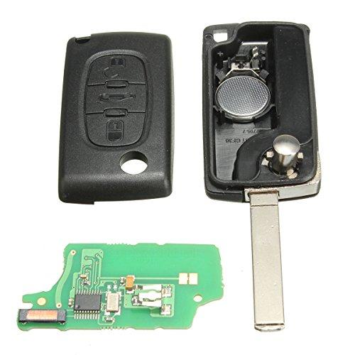 katur 433MHz 3tasti guscio chiave cover telecomando Auto batteria di ricambio con chip ID46per Peugeot Citroen Berlingo