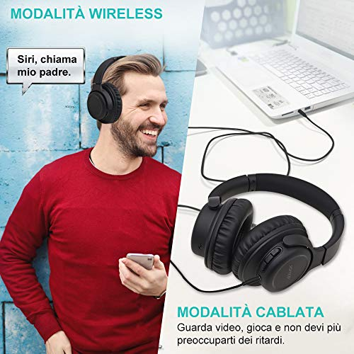 Zoom IMG-1 yamay cuffie bluetooth 5 0