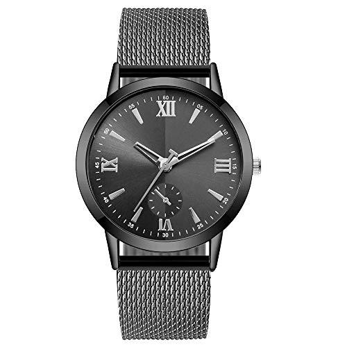 Neuer Trend  Unisex Uhren Analog Quarz Armbanduhr, Damen Frauen Minimalistisch Modisch mit Edelstahl Armband Uhren Damenuhr Elegant Ultradünne LEEDY