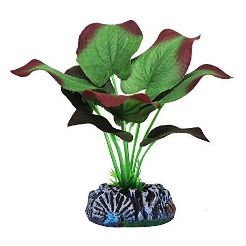 Plantas artificiales de seda realista para acuario