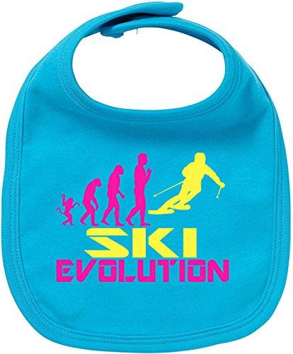 EZYshirt® Ski Evolution Baby Lätzchen Halstuch (Hose Snowboard Evolution)