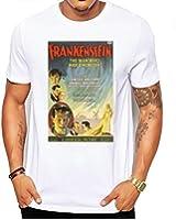 Frankenstein Vintage Movie Poster Men's Fashion Quality Heavyweight T-Shirt.