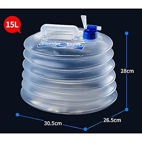 Contenitore per l' acqua pieghevole plastica senza BPA, campeggio, ciclismo,