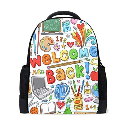 pack Shutterstock109948286 Klassenzimmer Kritzeleien wasserdicht für mittlere Reise Mädchen Jungen ()