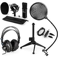 auna CM001S V2 Set Microfono A Condensatore XLR USB Staffa Ragno Microfono  Stativo treppiede regolabile Filtro ef05a0170d7b