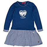 SALT AND PEPPER Mädchen Kleid Dress Horses Heartbreaker Blau (Indigo Blue Melange 460), 116