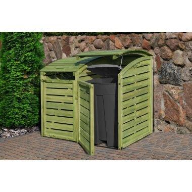 Mülltonnenbox / Mülltonnenverkleidung Doppelbox Mülltonne kdi