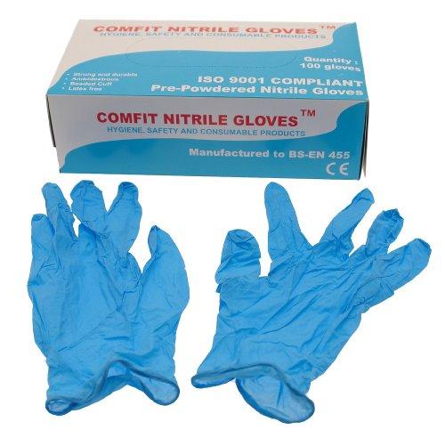 Saville ng201m en polvo de nitrilo guantes desechables–tamaño mediano