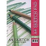 Best Crayons de charbon de bois - créer des A4100g/m² Jumbo spirale de croquis–120feuilles–Convient crayon Review