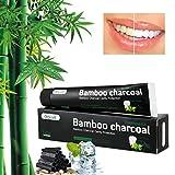Aktivkohle Zahnpasta - Weiße Zähne und Zahnreinigung - Bambuskohle Schwarze Zahnpasta - Weisse Zähne - Minzgeschmack - Fluoridfreie - Bamboo Aktivkohle Zahncreme Weiß - Whitening Zahnpasta - Für Empfindliche Zähne (Schwarz)