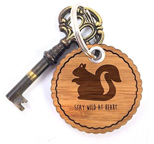 änger, Taschenanhänger, Rundwelle Schlüsselanhänger Eichhörnchen Classic mit Spruch - Farbe ()