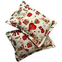 """Mini cuscino Classic""""Dormi Christmas"""" (confezione con 2 unità) pieno di semi di lavanda bio - mettilo sotto al tuo cuscino o guanciale per conciliare il sonno, calmare i nervi e rilassarti. 13x10cm"""