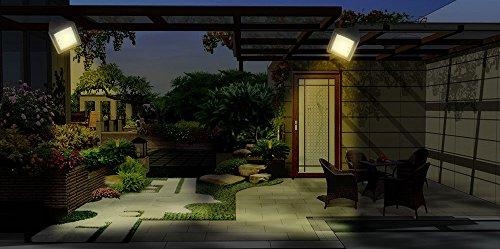 2 Stück LED Solar Licht, warmes Licht wasserdicht Garten Dekor Wand Power Lampe für Haustür, Hof, Garage, Deck, Veranda, Schuppen, Gehweg, Zaun (Wand-dekor-garten)