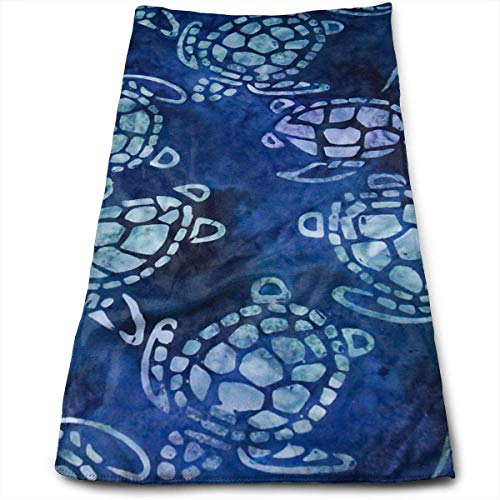 ERCGY Sea Turtles Blue Soft Polyester Large Hand Towel- Multipurpose Bathroom Towels for Hand, Face, Gym and Spa