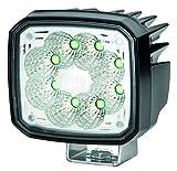 HELLA 1GA 995 606-011 Ultra Beam LED Gen. II, LED Arbeitsscheinwerfer, weitreichende Ausleuchtung, 8 LEDs, 4.000 Lumen, stehender Anbau, mattschwarz beschichtetes Aluminiumgehäuse, 12V/ 24V