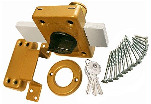Aufschraubschloss Kastenschloss Türzusatzschloss Zusatzschloss GAMA 140 Gold