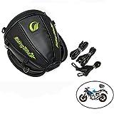 Fortag Motorrad Tasche Tankrucksack Leder Satteltaschen Heckgepäck Tanktasche Wasserdicht Gepäckträgertasche Tank Schwanz Tasche Bag