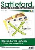 Sattleford Bedruckbare Klebefolien: 5 Klebefolien A4 transparent für Inkjet (Folie zum Bedrucken und Aufkleben)