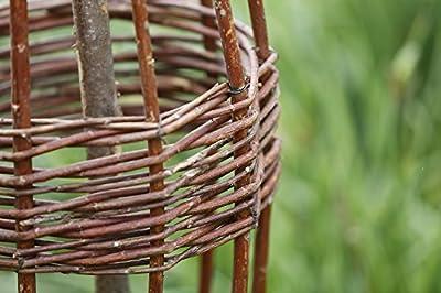 Rankspindel: Kletterhilfe aus Holz mit Weidengeflecht in 3 Größen von Weidenprofi auf Du und dein Garten