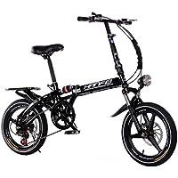Paseo Bicicleta Plegable Bicicleta Unisex 16 Pulgadas de aleación de magnesio Velocidad Variable Deportes Bicicleta portátil