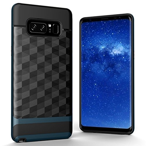 XACQuanyao for Samsung Galaxy Note 8 Geometric Figure 3D Diamond Soft TPU + PC Combination Cover Back Cover (Color: Navy Blue)