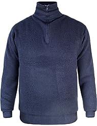 Herren Troyer Pullover mit Rollkragen und Reißverschluss Blau Gr. S-XXXL