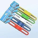 RAILONCH 5 /10 Stück Radfahren Fahrrad Silikon elastische Gummiband Bandage Krawatte Taschenlampe RAILONCH (Schwarz-10)