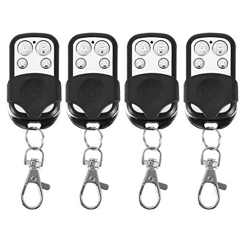 Schlüsselanhänger, 4 stücke Universal Klonen Drahtlose Fernbedienung Schlüsselanhänger für Auto Garagentor Tor 433 mhz