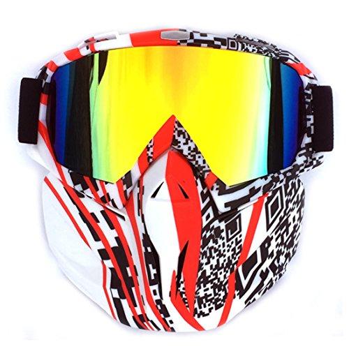 LDB SHOP Taktische Maske Einfach Stil Face Maske Taktische Schutzmaske Darts Pfeile Gesichtsmaske für Nerf-QR Code Muster + Rote Linse