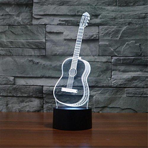 Gitarre 3D bunte Lichter LED Lampe Acryl Vision Stereoskopische 3D Touch Lampe Nacht Licht bunte Steigung Lampe