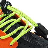 No Label Race Lace - Elastische Sport Schnürsenkel Mit Schnellverschluss + Schnellschnürsystem | Komfort, Halt + Zeit Sparen mit Profischnürsenkel für Sportschuhe | Kinder Erwachsene 3 x Gelb