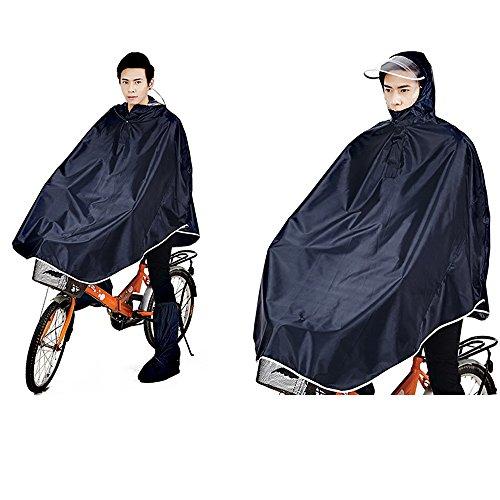 Tourwin Windjacke Fahrrad Regenjacke mit Kapuze, Poncho, 1 Stück schwarz