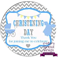 Eternal Design 12 x 63mm Christening Day White Stickers CDCS 1