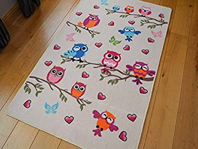 Kids Non Slip Machine Washable Cute Owl Play Mat. Available in 3 Sizes - inexpensive UK light shop.