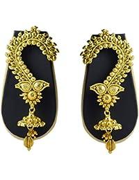 Sadnya Exclusive Gold Finish Brass Ear Cuffs Earrings For Women - DLEC07