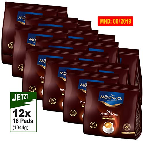 Mövenpick DER HIMMLISCHE 12x16 Kaffeepads á 112g (1344g) - Premium Kaffee, 96 Pads