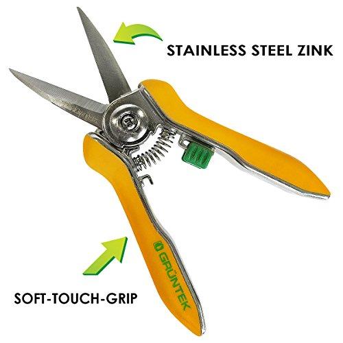 gruentek-rosen-pflanzenschere-colibri-170-mm-edelstahlklingen-mit-zink-legierung-blumenschere-mit-soft-touch-ergo-griff-gartenschere-rosenschere-trimmerschere-bypass-2