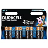 Duracell Ultra Power AA Alkaline Batteries, 8 Batteries