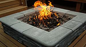 brightstar gas fire pit burner square 18kw lpg gas. Black Bedroom Furniture Sets. Home Design Ideas