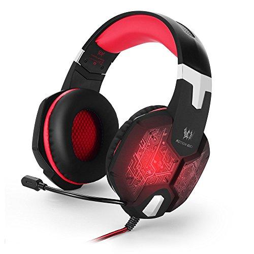 Schildkröte 5 Light (Kopfhörer Spiele-Headset mit Mic Stereo Bass Breathing LED Light Gaming Kopfhörer für PC oder Computer Gamer Vibration Function Professional)