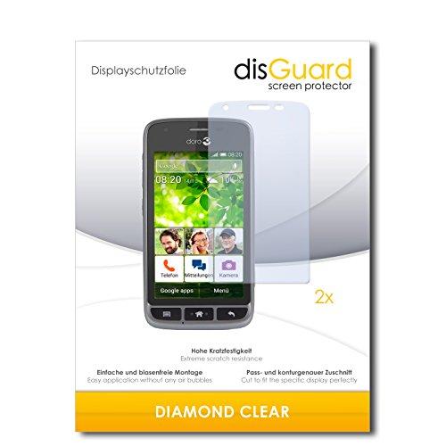 2 x disGuard® Bildschirmschutzfolie doro Liberto 820 Mini Schutzfolie Folie