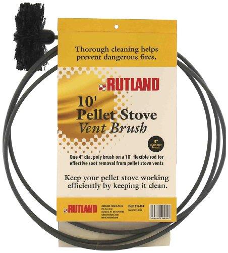 Rutland 10,2cm Pelletofen/Trockner Vent-Bürste, schwarz -