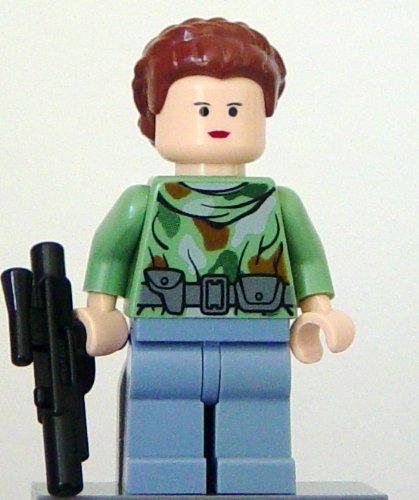 LEGO Star Wars - Figura de princesa Leia con arma (Endor)
