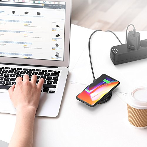 51ONJKg8oeL - [Amazon] RAVPower Qi kabelloses Ladegerät für iPhone X/8/8 Plus für nur 29,99€ statt 39,99€
