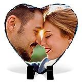 Lolapix - Fotopiedra corazón 15x15 Personalizada con Foto. Marco/Soporte para Foto Sobre Piedra,...
