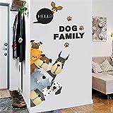 AFGD Wanddekoration Hundetatzenpfotenwandaufkleber Der Applikation Hundekuchen 3D Raumdekorationstieraufkleber, A