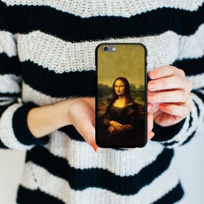Apple iPhone 5s Housse Étui Protection Coque Mona Lisa Tableau Art CasDur noir