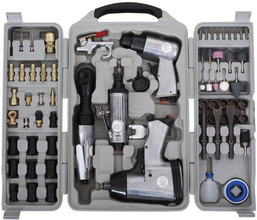 Preisvergleich Produktbild EBERTH 71-TLG Druckluft Schlagschrauber Geräte Set (Ratsche, Meißelhammer, Schleifer)