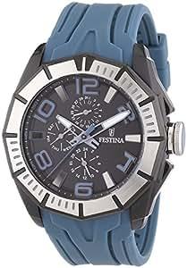 Festina - F16670/4 - Montre Homme - Quartz Analogique - Aiguilles lumineuses - Bracelet Caoutchouc bleu