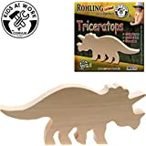 CORVUS Kids at Work Holzrohling Triceratops